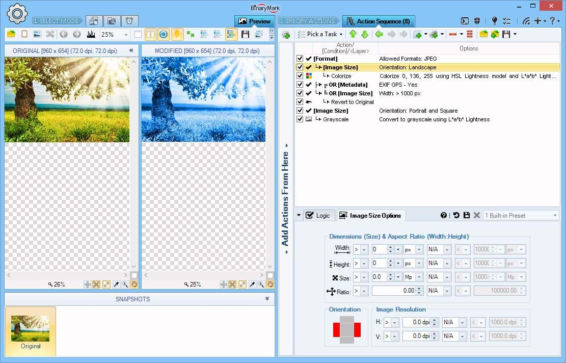 Photo Manipulation Software, Batch Image Enhancer Screenshot