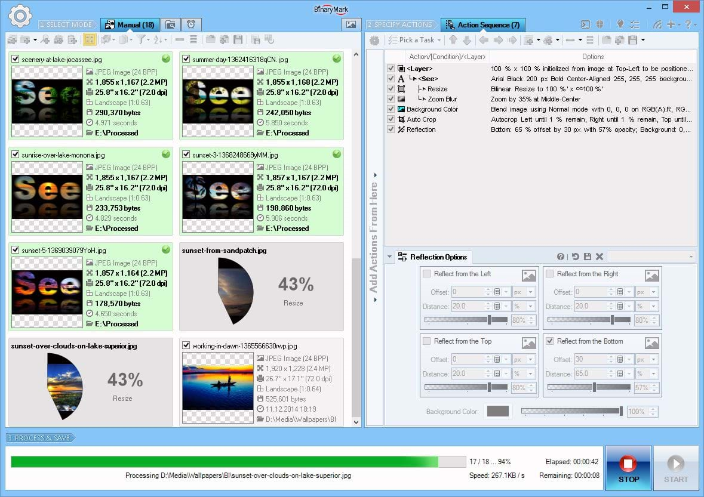 Batch Image Resizer, Photo Manipulation Software Screenshot