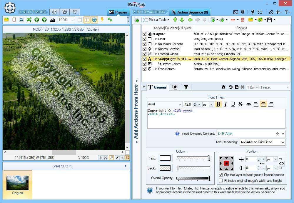 Design, Photo & Graphics Software, Batch Image Watermarker Screenshot
