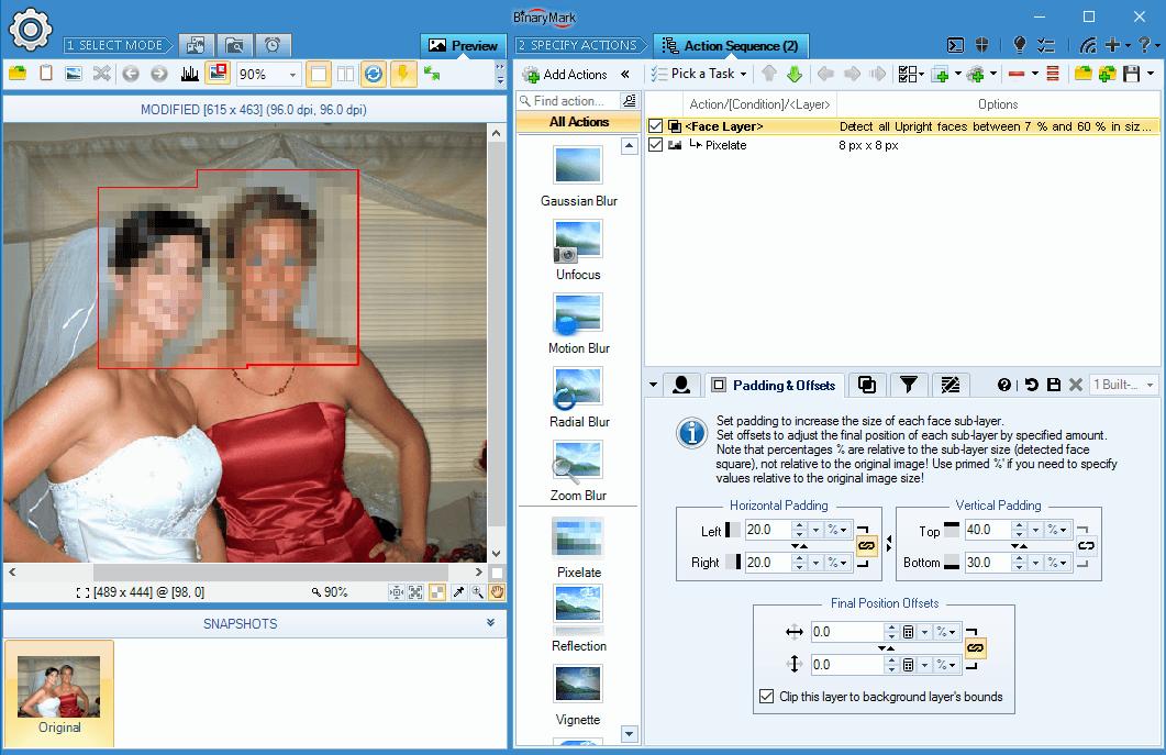 Batch Photo Face, Photo Manipulation Software Screenshot