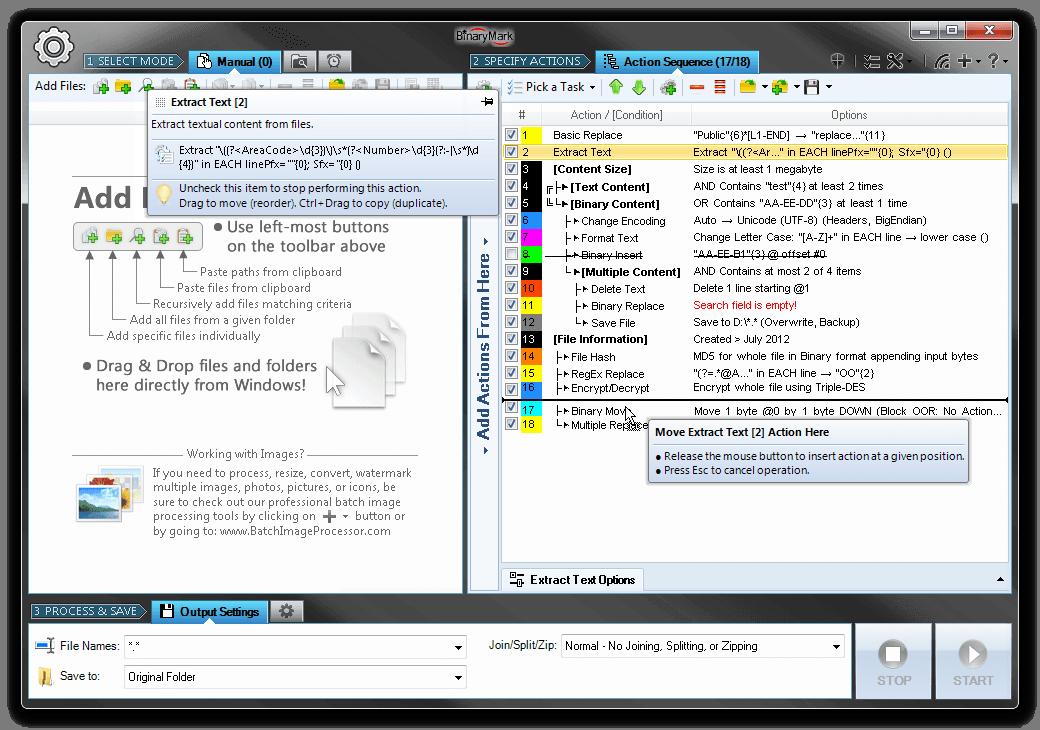 Batch Text File Editor Screenshot 9