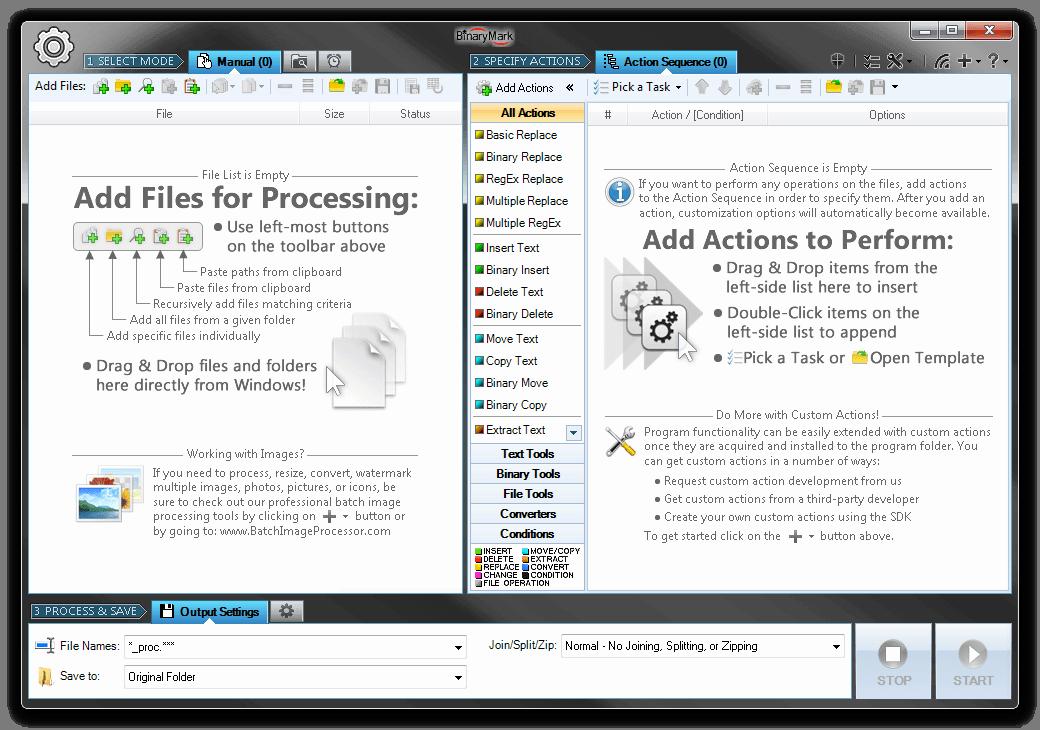 Development Software, Batch Text File Editor Screenshot