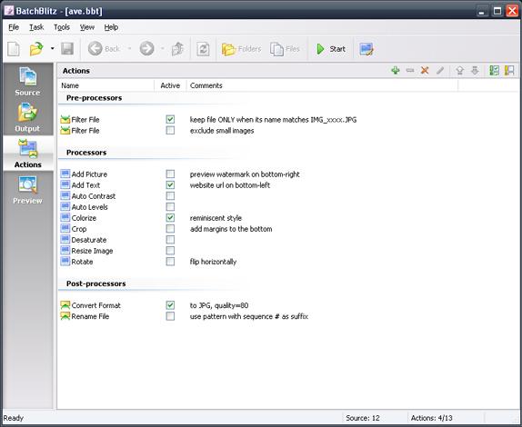 BatchBlitz, Batch Image Software Screenshot