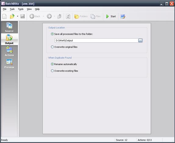 Batch Image Software Screenshot