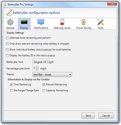 BatteryBar Pro Screenshot