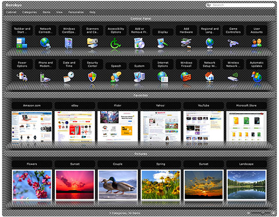 Berokyo, Desktop Customization Software Screenshot