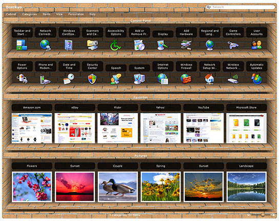 Desktop Customization Software, Berokyo Screenshot