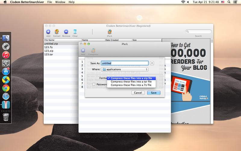 BetterUnarchiver for Mac, Software Utilities Screenshot