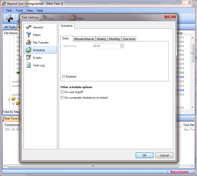 Beyond Sync Standard, File Sync Software Screenshot