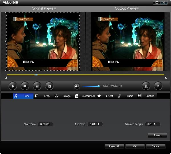 Bigasoft DVD Ripper, Video Software Screenshot