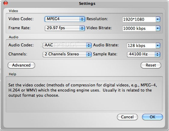 Video Converter Software, Bigasoft Total Video Converter for Mac Screenshot