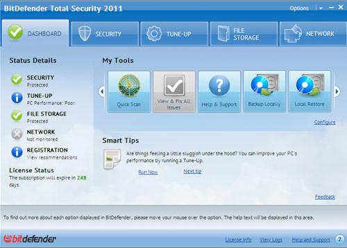 BitDefender Blowout!, Internet Security Software Screenshot