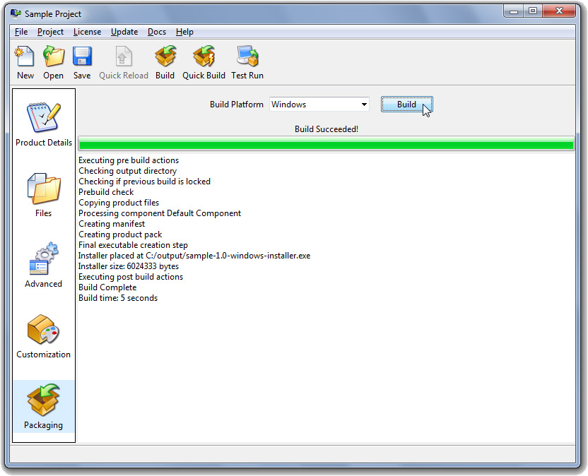 BitRock InstallBuilder, Development Software, Development Tools Software Screenshot