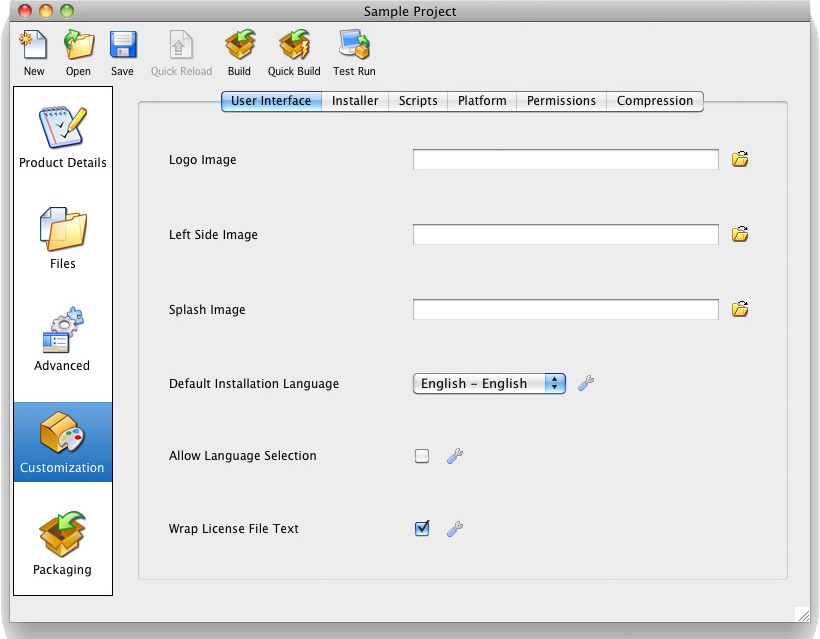 BitRock InstallBuilder, Development Tools Software Screenshot