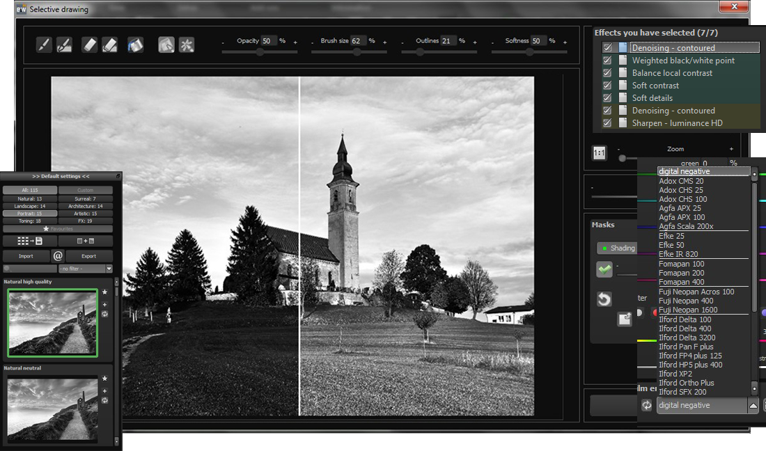 BLACK & WHITE projects Professional Screenshot