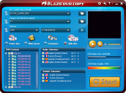 BlazeVideo DVD Copy Screenshot