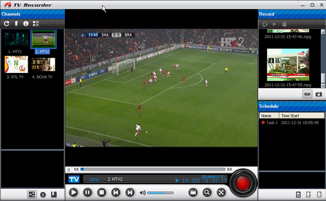 BlazeVideo TV Recorder Screenshot