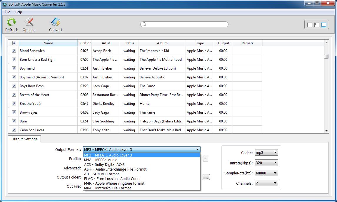 Boilsoft Apple Music Converter for Mac/Windows, Audio Conversion Software Screenshot