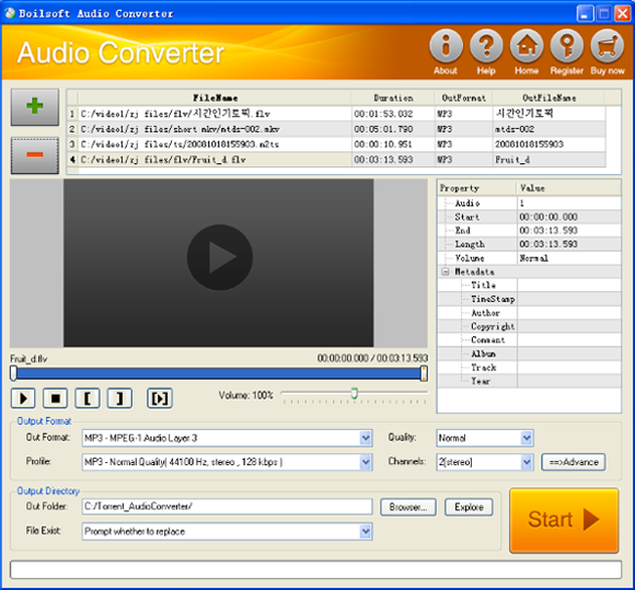 Boilsoft Audio Converter Screenshot