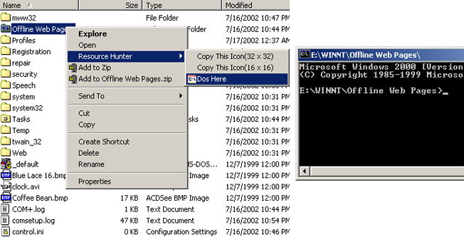 Boilsoft Resource Hunter, Resource Files Software Screenshot