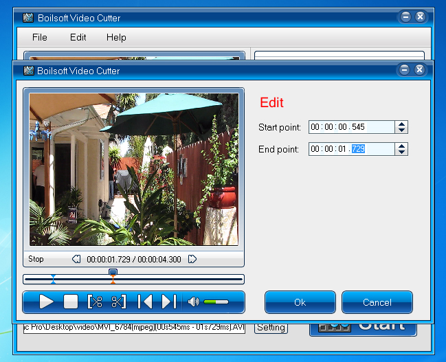 Boilsoft Video Cutter, Video Editing Software Screenshot