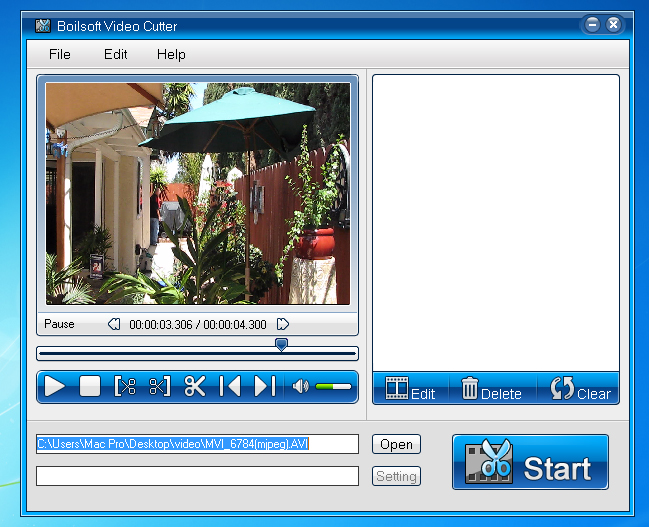 Boilsoft Video Cutter Screenshot