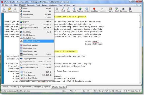 Boxer Text Editor, Development Software, Code Editor Software Screenshot