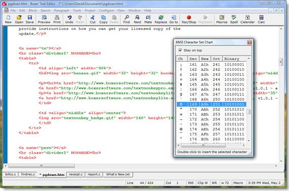 Code Editor Software, Boxer Text Editor Screenshot