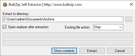 Software Utilities, BulkZip File Compressor Screenshot