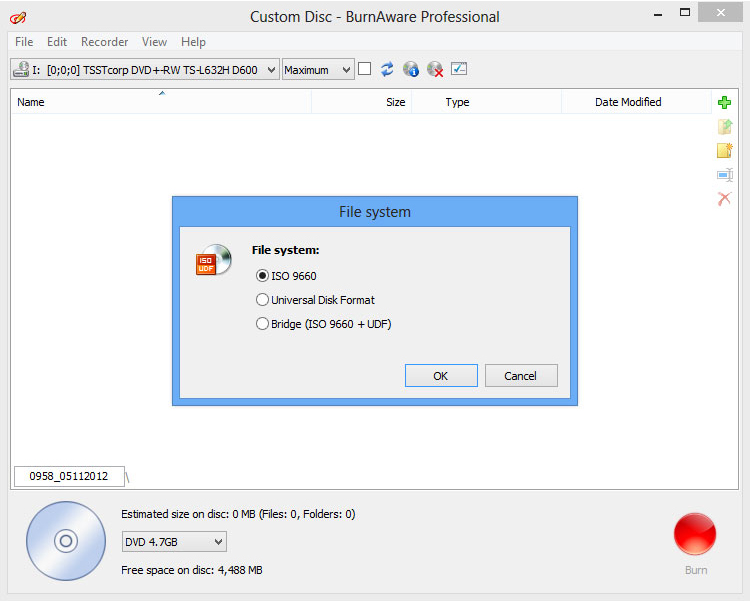 BurnAware Professional, DVD Burner Software Screenshot