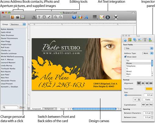 Business Card Composer Screenshot