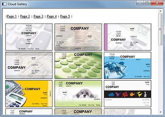 Business Card Designer Plus, Job Search & Business Card Software Screenshot