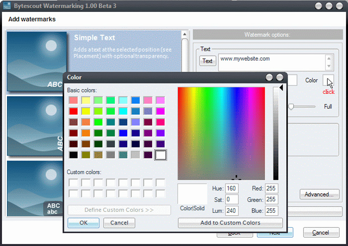 Bytescout Watermarking Pro, Design, Photo & Graphics Software Screenshot