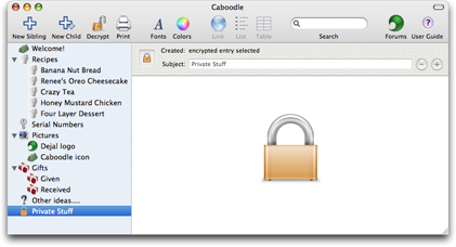 Caboodle, Productivity Software Screenshot