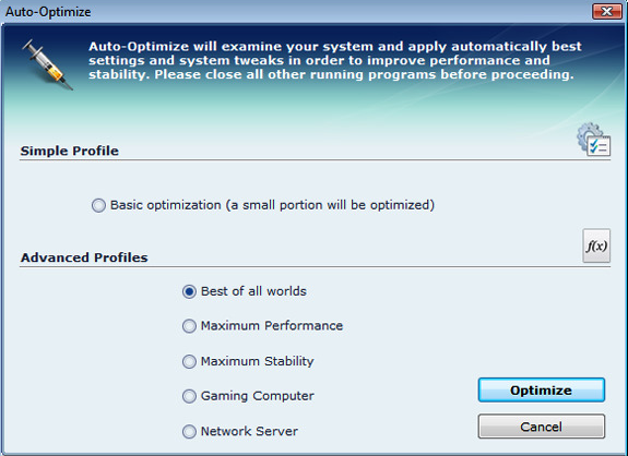 Cacheman (2 Computer License), System Tweaker Software Screenshot