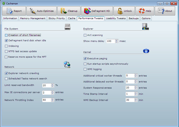 Software Utilities, System Tweaker Software Screenshot