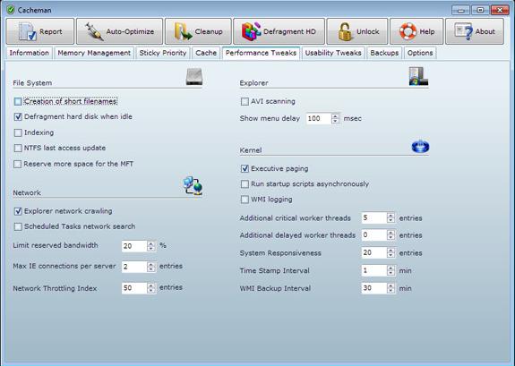 Software Utilities, System Tweaker Software Screenshot