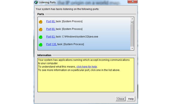 Security Software, CallerIP Standard Screenshot