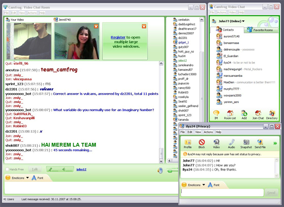 Internet Software, Camfrog Video Chat Screenshot
