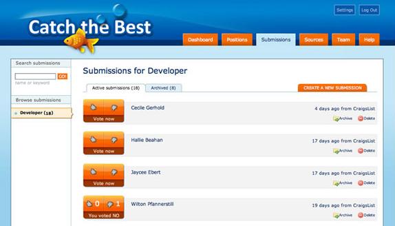 Catch the Best, Business Management Software Screenshot