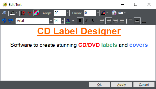 CD Label Designer, Label Creation Software Screenshot