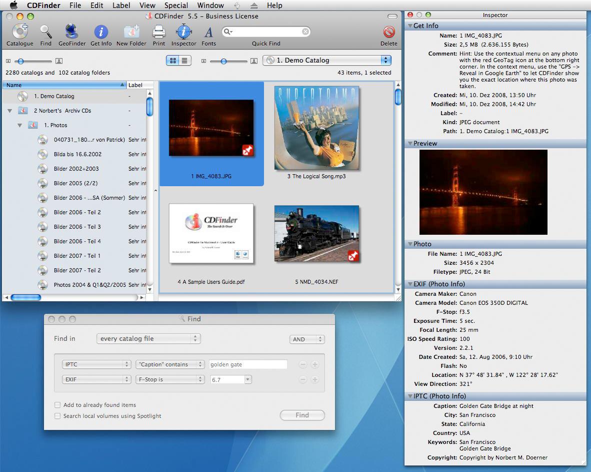 CDFinder, Hobby, Educational & Fun Software Screenshot
