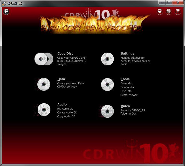 CDRWIN 10 Screenshot