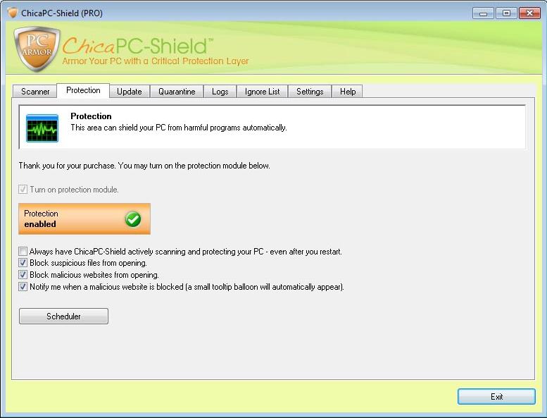 Internet Security Software Screenshot