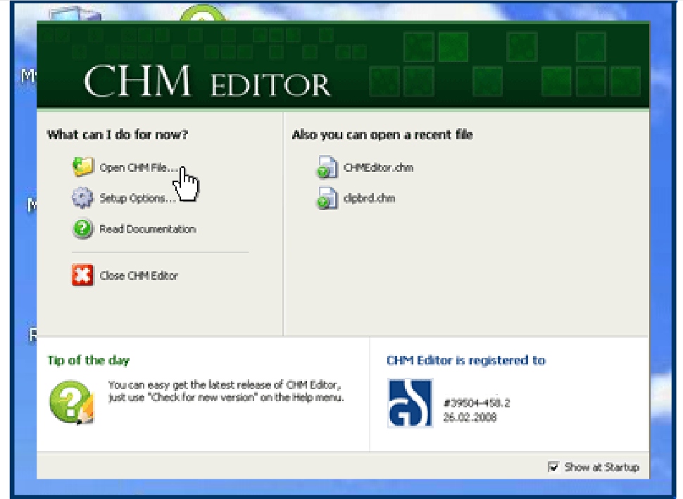 CHM Editor Screenshot