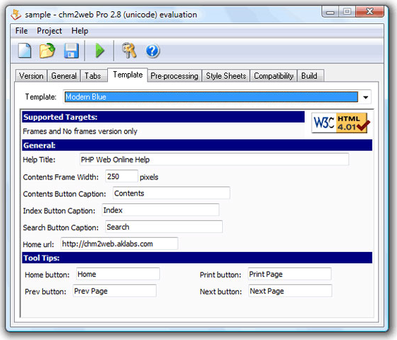 chm2web Pro, Help Authoring Software Screenshot