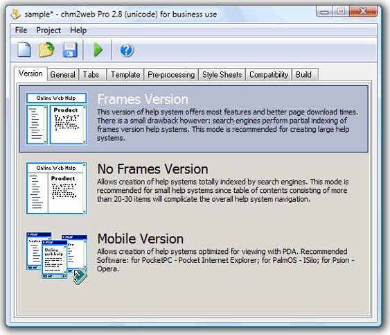chm2web Pro Screenshot