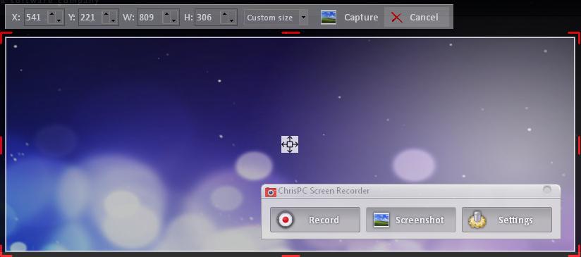 ChrisPC Screen Recorder Pro Screenshot