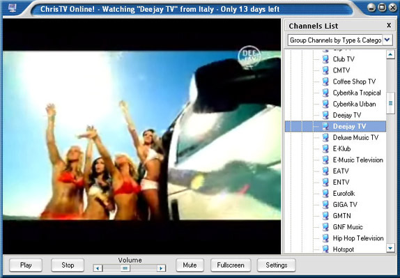 ChrisTV Online! Premium Edition, Online Video Software Screenshot