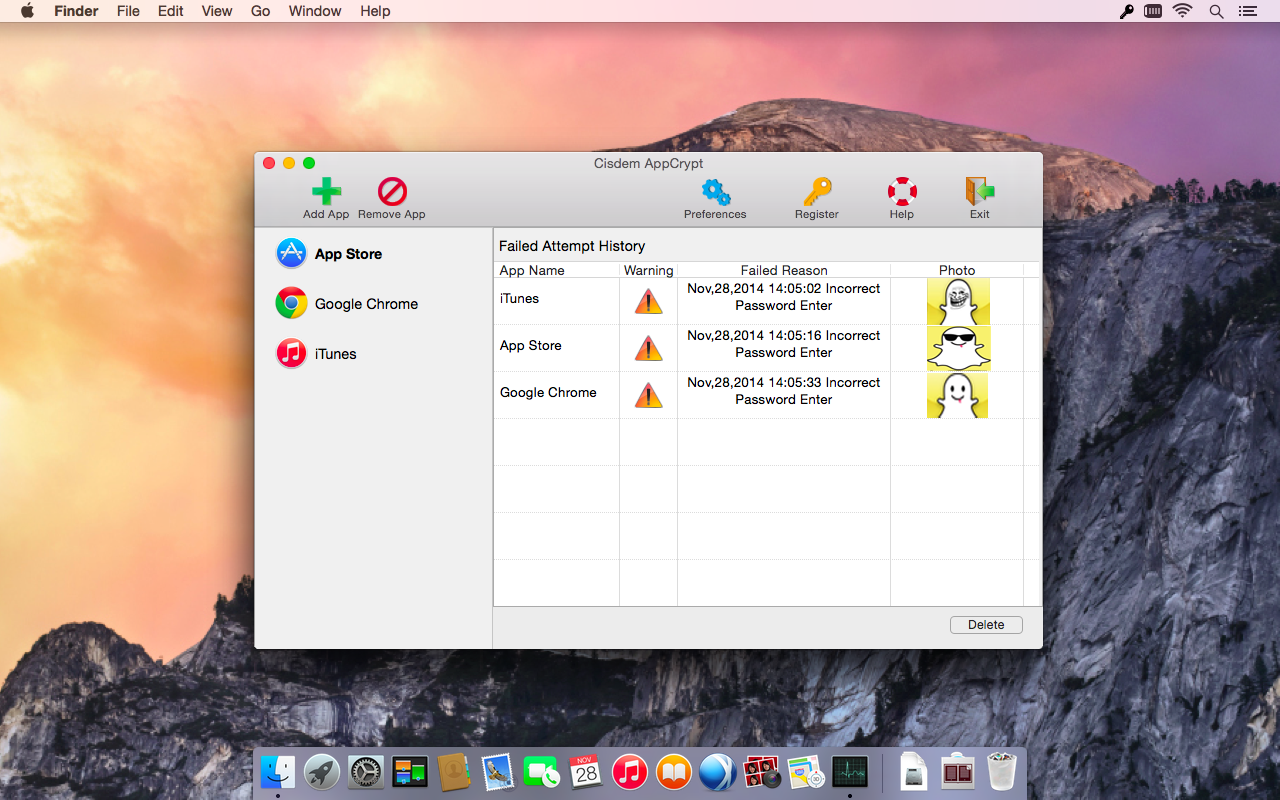 Cisdem AppCrypt for Mac Screenshot